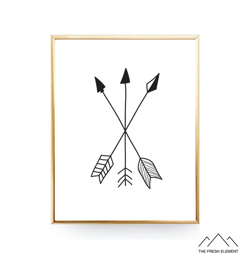 image regarding Printable Arrows referred to as Arrow Printable Artwork Arrow Wall Artwork Arrows Nursery Wall Artwork Woodland Nursery Prints Arrow Wall Decor Nursery Artwork Children Space Decor Bed room Artwork