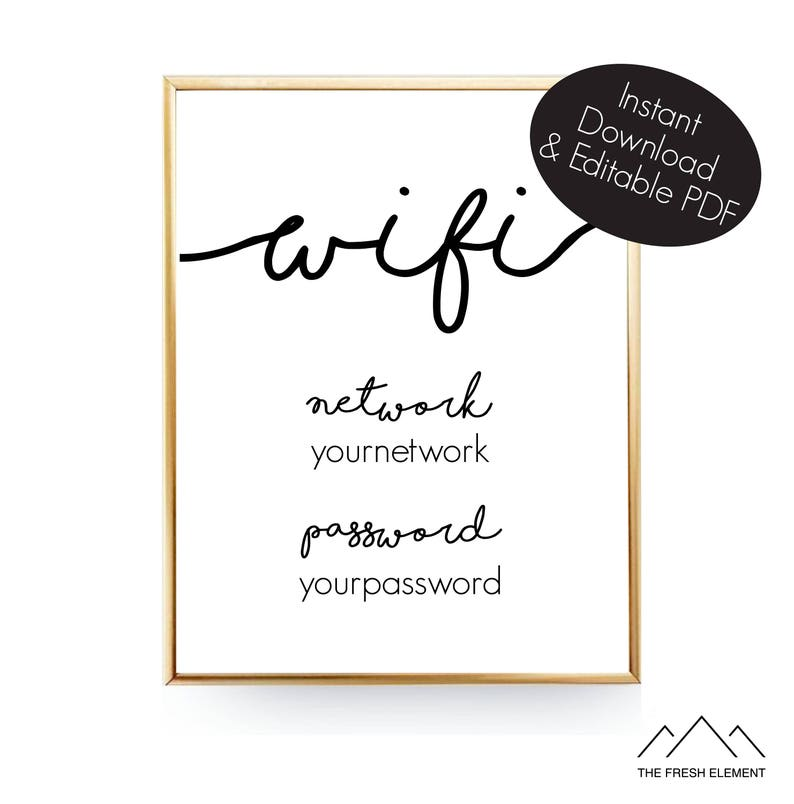graphic about Wifi Password Printable identify Editable Wifi Pword Indicator Wifi Printable Artwork Wifi Signal Wifi Print Wifi Pword Printable Wifi Code Visitor Area Wifi 8x10 Instantaneous Obtain