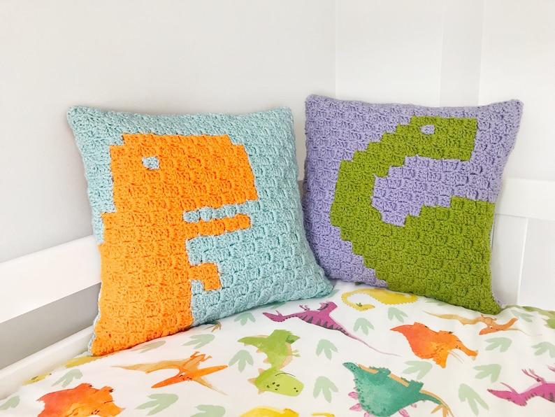 ROAR-some Crochet Cushions  Pattern image 0