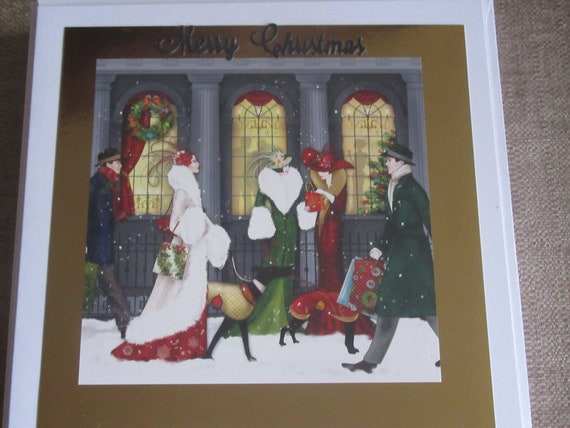 Art Deco Handmade Christmas Card Etsy