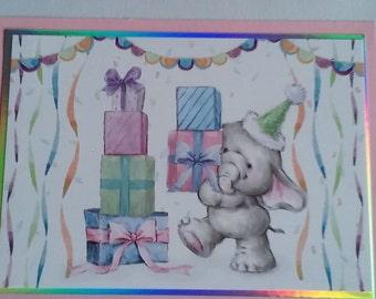 Handmade elephant card