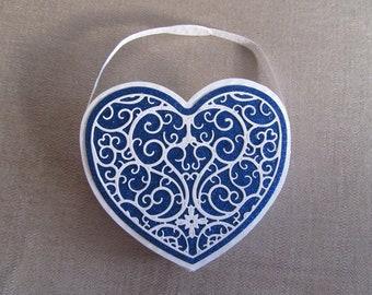 Handmade heart gift bag