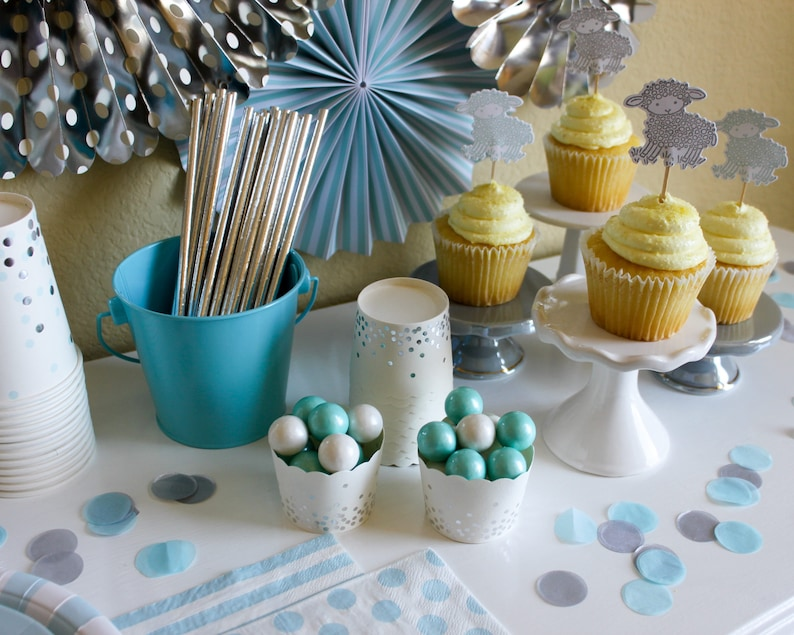 Gingham Pastel Treat Cups  Gingham Treat Cups  Gingham Pastel Baking Cups  Spring Party Decor  Easter Party