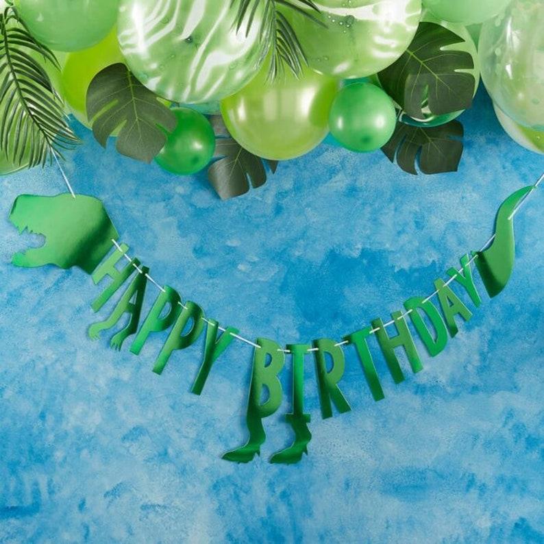Dinosaur Happy Birthday Banner  Roar Party  Dinosaur Banner  Happy Birthday Banner  Dino Party Banner  Jurassic Party  Three Rex