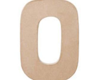 """Paper Mache 12"""" Letter O / 12 INCH / Paper Mache Letter / Paper Mache"""