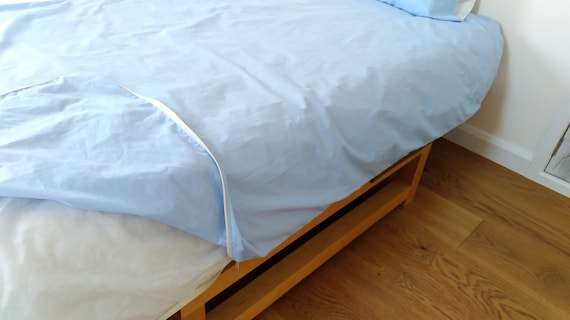 Single King Size Duvet Cover With Continuous Zip Closure Etsy