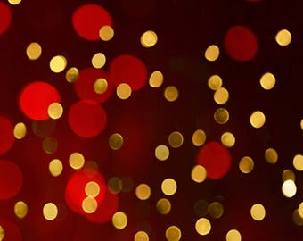Gold & Red Bokeh Photography Backdrop / Banner / Table Backdrop (BK-GI-013)