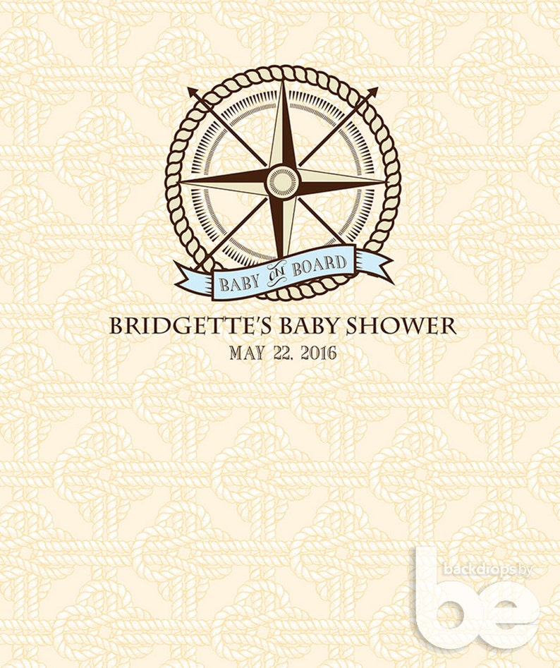 Nautical Baby Shower Backdrop Baby on Board Custom Baby Shower Backdrop Custom Baby Shower Backdrop