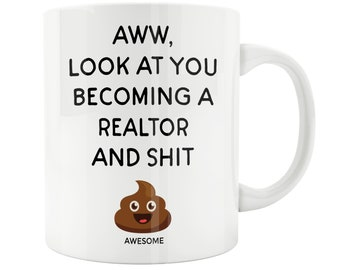 Office Warming Gift. Realtor Gift, Real Estate Agent Mug, Closing On A House