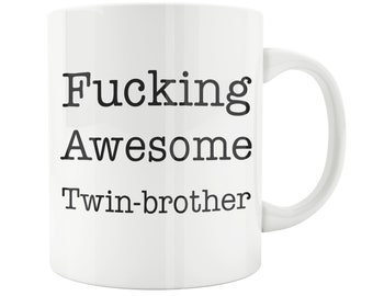 Twin Brother Mug Birthday Gift Sibling Baby Shower Big Funny Friend