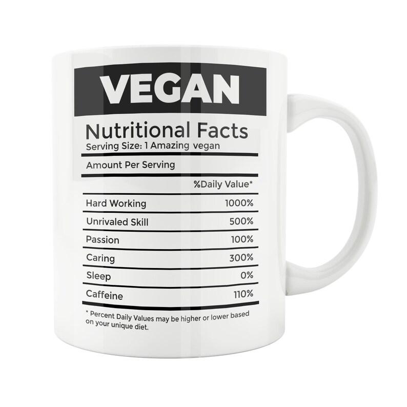 Vegan Gift Mug Vegetarian Funny Under 20