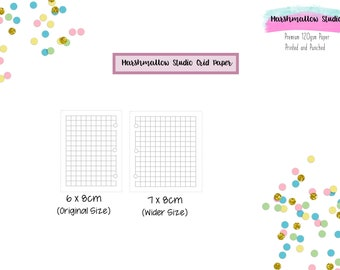 5mm Grid Paper for Marshmallow Studio Rings