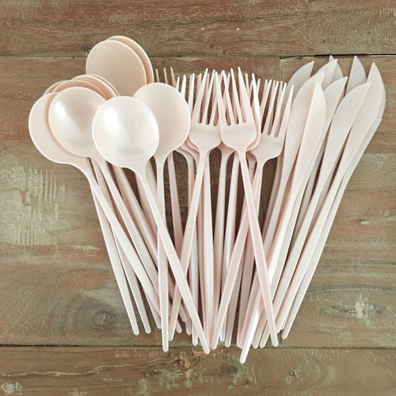 20ct Disposable Modern Cutlery Plastic Wedding Forks Spoons Etsy