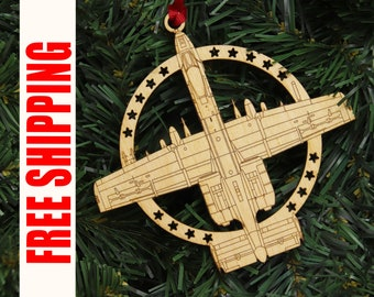 a 10 warthog christmas ornament aviation gifts military gifts pilot gifts air force gifts stocking stuffer for him