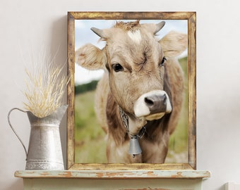 Cow Print | Farmhouse Decor | Cow Photo | Farmhouse Wall Decor
