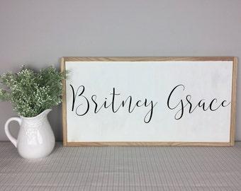 Nursery Name Sign | Nursery Decor | Baby Shower Gift | Nursery Wall Art | Custom Name Sign | Baby Name Sign