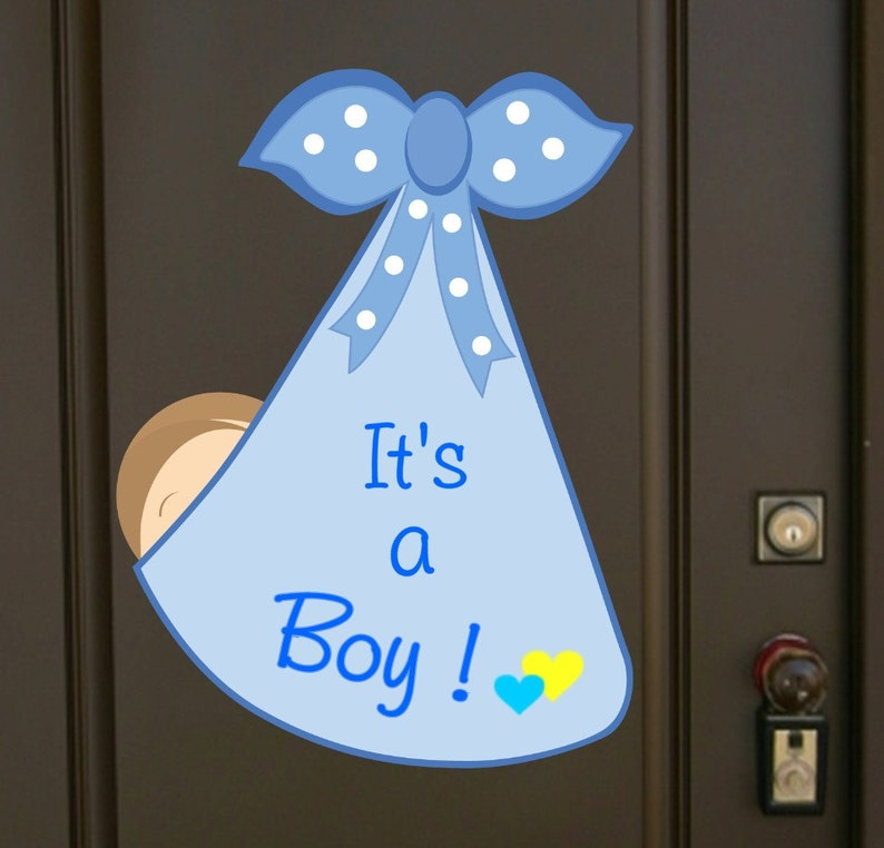 It S A Boy Baby Door Hanger Newborn Hospital Birth Door Etsy