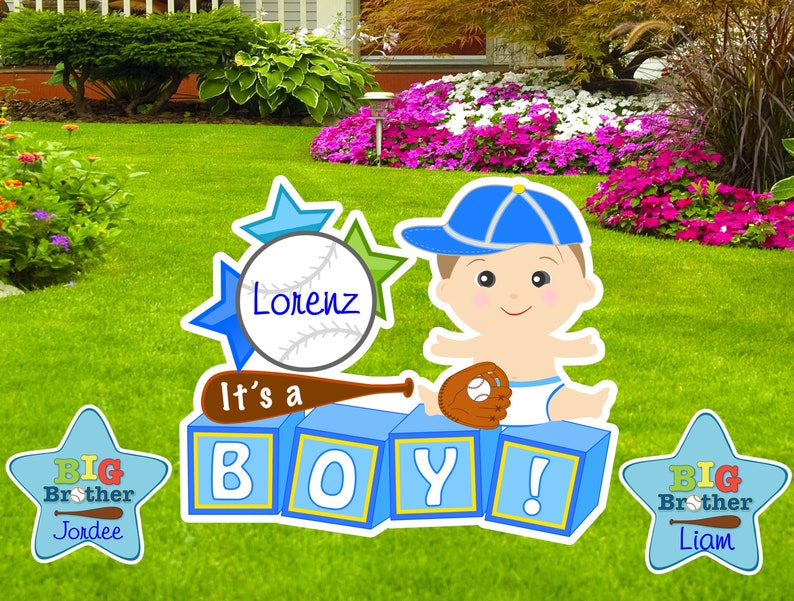 Welcome Home Baby Sign Custom Its A Boy Yard Baseball Sport Lawn New Birth Announcement Decoration Outdoor Shower Gender Reveal