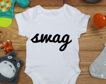 b5e2a490017 Swag baby vest boys girls grow