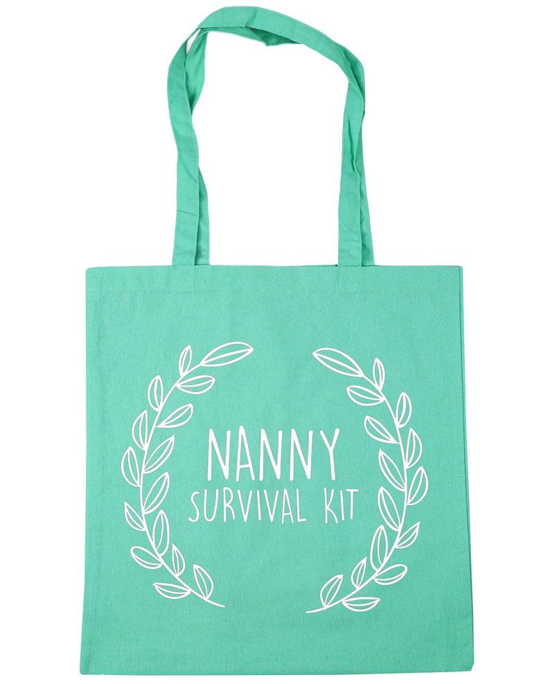 Nanny Survival Kit Tote Shopping Gym Beach Bag 42cm x38cm 10 litres