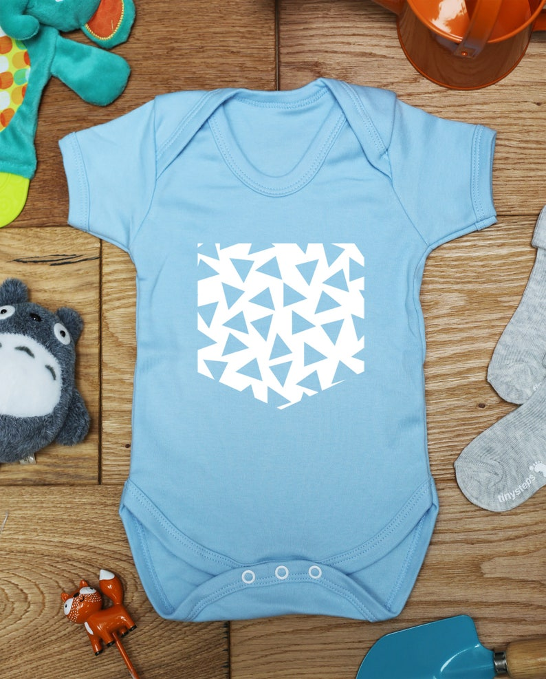 made to order handmade Pattern pocket baby vest boys girls grow bodysuit little hippo gift printed babies wear clothing hippy