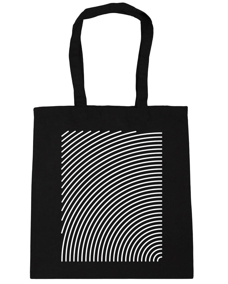 10 litres Radial pattern Tote Shopping Gym Beach Bag 42cm x38cm