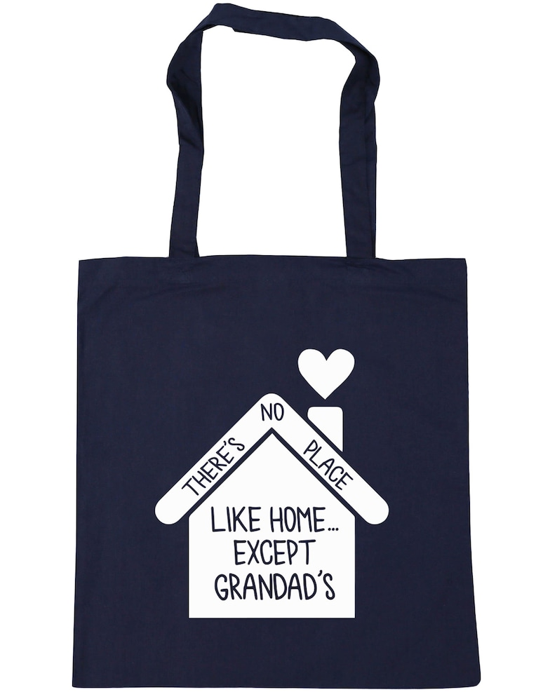 10 litres There/'s no place like home...except Grandad/'s Tote Shopping Gym Beach Bag 42cm x38cm