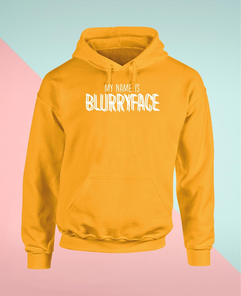 My Name is Blurryface Unisex Hoodie Hooded Top Gift Present Novelty Funny Joke Lifestyle Clothing Everyday Reusable