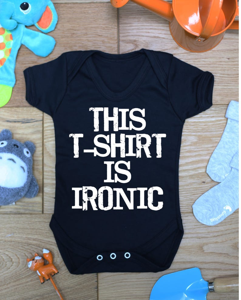 This Tshirt is ironic baby vest boys girls grow Handmade Bodysuit Gift Made To Order Little Hippo Hippy Printed Babies Wear Clothing
