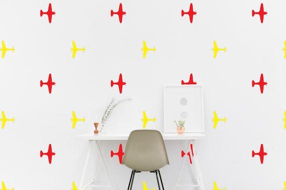 Flugzeug Kinderzimmer Wand Muster Aufkleber Flugzeug WW2