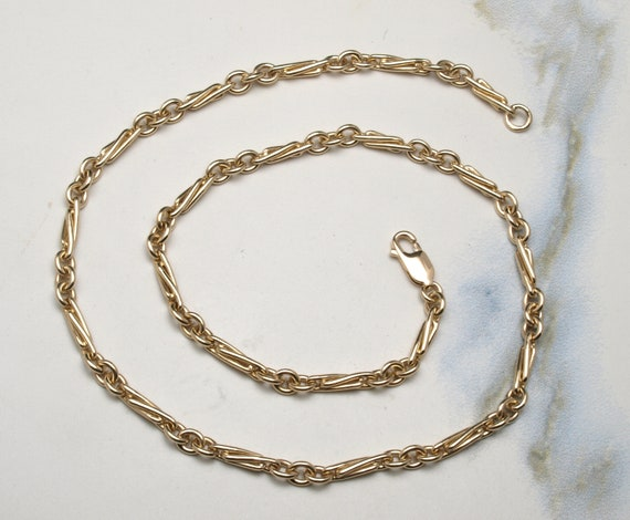 "Heavy gold 18"" necklace chain"