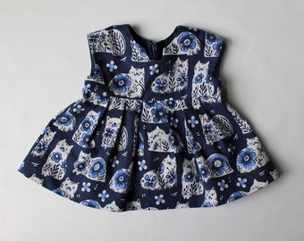 928e764f6 Navy Baby Girl Clothes, Baby Girl Outfit, Baby Girl Dress, Baby Girl Tunic,  Birthday Gift, Hair Bow, Two Piece Set, Sizes 0-3 Month to 5T
