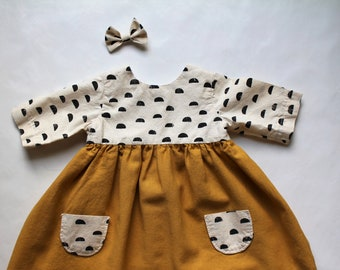 4e593a0d7 Fall Baby Girl Clothes, Baby Girl Outfit, Baby Girl Dress, Baby Girl Tunic,  Birthday Gift, Hair Bow, Two Piece Set, Sizes 0-3 Month to 5T