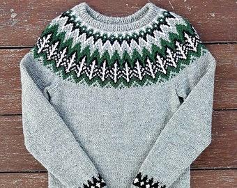 Valemon sweater size XS. Icelandic sweater. Lopapeysa. Fair isle sweater.