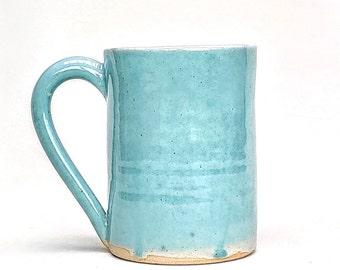 Pale jade - stoneware - ceramic - pint pot - very large mug