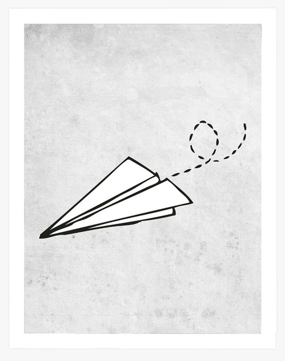 Paper Airplane Sketch Paper Airplane Drawing Sketches Paper Airplane Print Paper Airplanes Illustrations Paper Airplane Wall Art