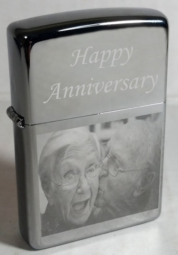 Photo Engraved Zippo Lighter With Free Text Great Idea On Etsy