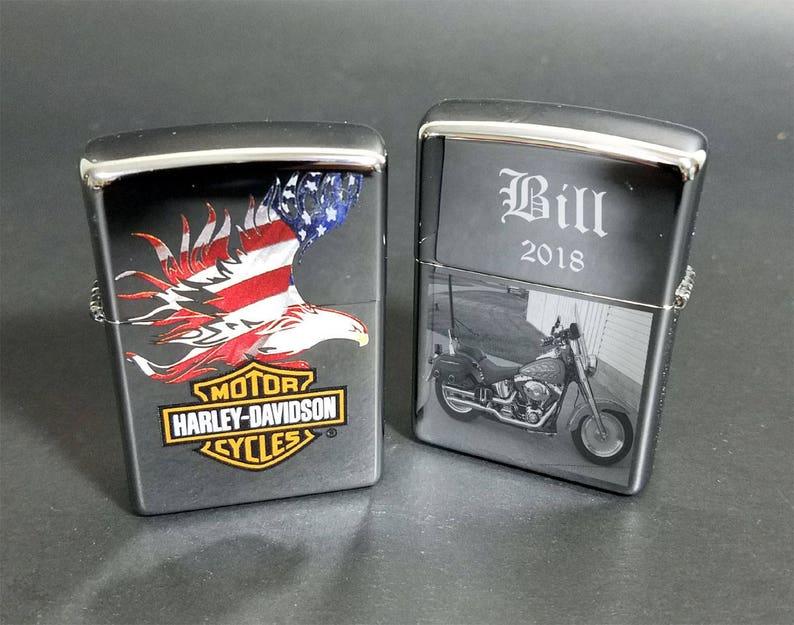 15e09c1e5d5ec4 Zippo Genuine Harley Davidson Lighter Color American Flag Logo | Etsy