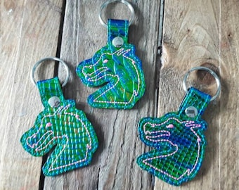 4x4 DIGITAL DOWNLOAD Dragon Snap Tab Set Key Chain ITHEmbroidery Design