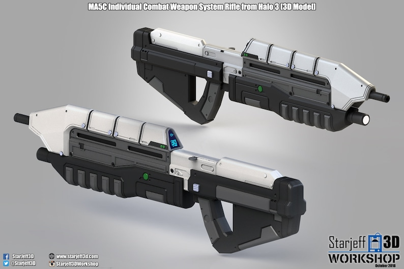 PREORDER - MA5C ICWS Rifle from Halo 3 [Fan-art]
