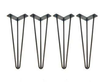 Metal coffee table legs etsy hairpin legs set of 4 usa made hairpin hairpin table legs desk legs mid century modern modern coffee table furniture leg metal leg watchthetrailerfo