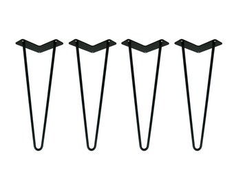 Hairpin legs set of 4 usa made hairpin hairpin table legs black powder coated hairpin legs set of 4 hairpin legs black hairpin table legs mid century modern coffee table furniture metal legs watchthetrailerfo