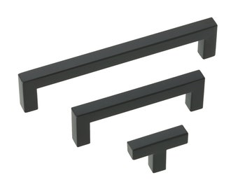 Dimart Matte Cabinet Handle Door Drawer Pull Knob Hardware Black