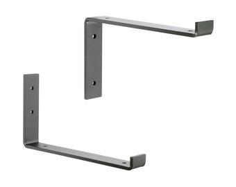 Heavy Duty Shelf Brackets, Iron Shelf Brackets, J Bracket, Metal Shelf Bracket, Industrial Shelf Bracket, Modern Shelf Bracket, Floating