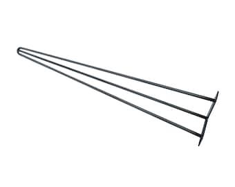 """Hairpin Legs 12"""" - 17"""", Hairpin Table Leg, Mid Century Modern, Metal Legs, Hairpin Leg, Coffee Table Legs, Midcentury Modern Steel Table Leg"""