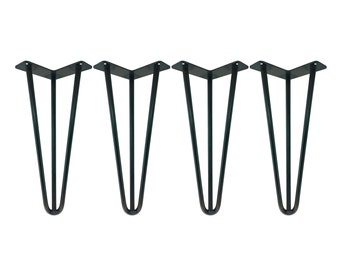 """1/2"""" SUPER HEAVY DUTY Hairpin Legs Set of 4, Raw Uncoated Steel, Hairpin Table Legs, Metal Table Leg, Mid Century Modern, Coffee Table"""