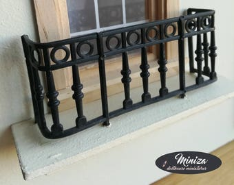 Miniature balcony, 1:12 scale