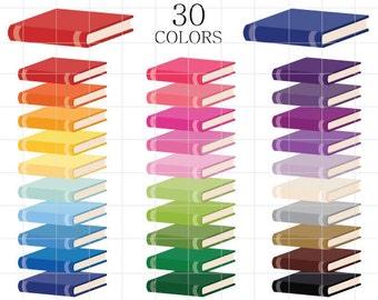 Books Clipart, Colorful Books Clip Art, Rainbow Books Clipart, School  Clipart, Library Books Clipart, Book Clipart