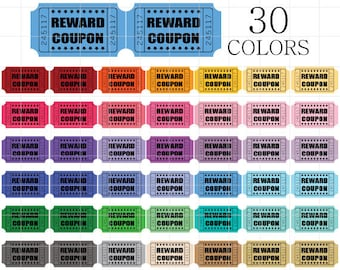 blank coupon clipart blank tickets clip art digital coupons etsy