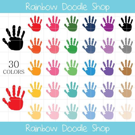 Painted Hand Prints Clipart Handprints Clipart Kids Hand ...
